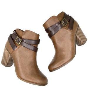 Material girl zip up heel boots 9.5